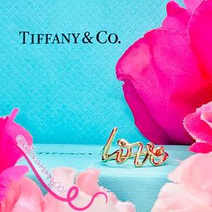 NWOT T&Co. 18k RG Paloma's Graffiti LOVE Ring, 6.5